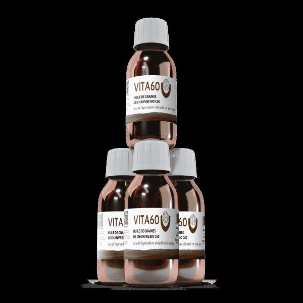 4 flacons huile de chanvre C60