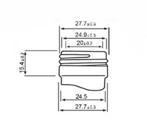 measuring bottle adapter size